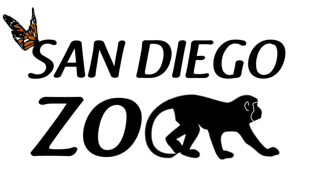 san diego zoo logo black white congen